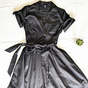 Banana Republic Black Wrap Dress
